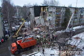 Ярославль, 16 февраля 2016. Взрыв бытового газа в панельной пятиэтажке